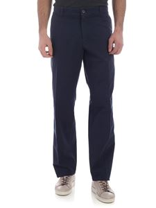 Kenzo - Blue chino trousers with white stitching