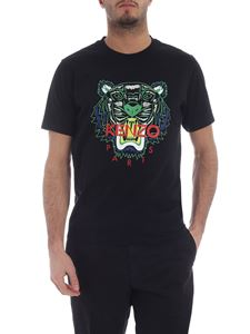 Kenzo - Black Classic Tiger green t-shirt