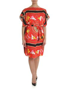 MSGM - Printed red dress