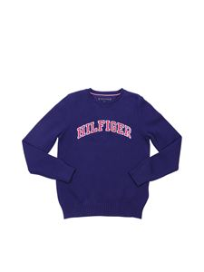 Tommy Hilfiger - Blue Essential embroidered sweater Tommy