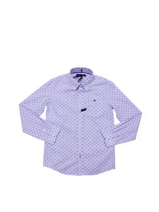 Tommy Hilfiger - Embroidered light blue Gingham shirt