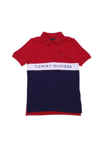 06c046b9 Tommy Hilfiger Spring Summer 2019 tommy bicolor polo in red and blue ...
