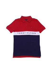 Tommy Hilfiger - Tommy bicolor polo in red and blue