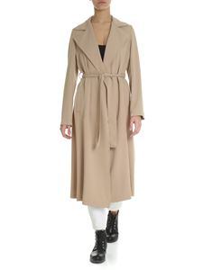 Parosh - Beige overcoat in cady fabric