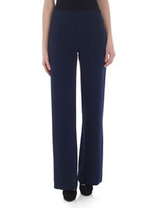 Parosh - Blue trousers in cady fabric