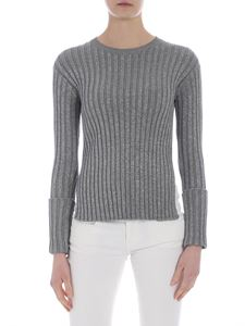 Red Valentino - Lamé gray pullover with vents