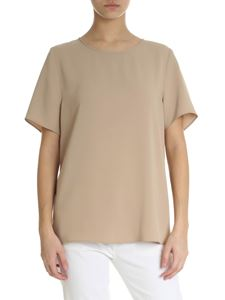 Parosh - Beige technical fabric top