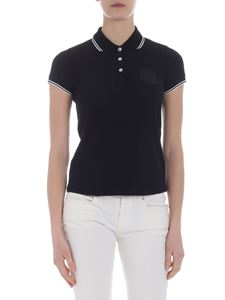 Moncler - Black polo with Moncler logo