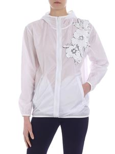 Parosh - White jacket with floral sequins