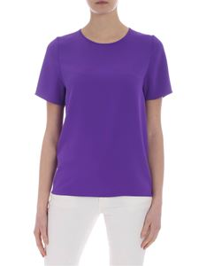 Parosh - Purple technical fabric top