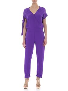 Parosh - Purple jump suit with front cross