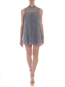 Red Valentino - Pleated gray tulle short dress