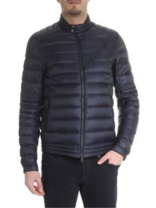 Moncler - Royat down jacket in blue technical fabric