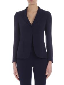 L'Autre Chose - Jacket in blue sable fabric