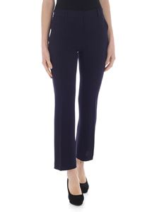 L'Autre Chose - Bootcut trousers in blue sable fabric