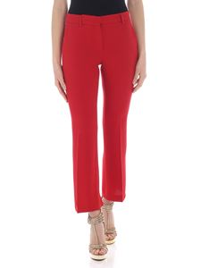 L'Autre Chose - Bootcut trousers in red sable fabric
