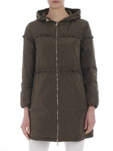 Moncler - Trench Luxembourg verde militare