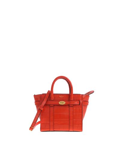 Mulberry Spring Summer 2019 micro zipped bayswater shiny croc red ... 9389f4114c609
