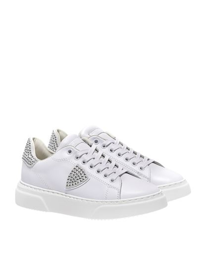 Philippe Model - White studded Temple sneakers