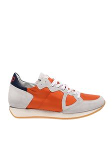 Philippe Model - Orange and white Monaco Vintage sneakers