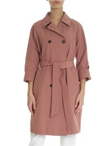 Peserico - Pink three-quarter sleeves raincoat