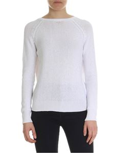 Peserico - White sweater with micro sequins embellishment