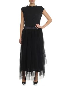 Peserico - Black dress with tricot top