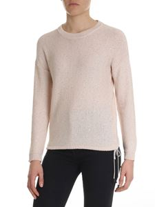 Peserico - Powder pink sweater with drawstring