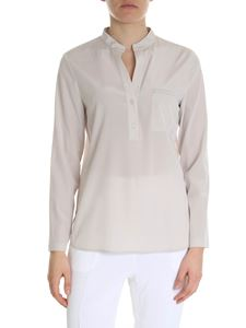 Peserico - Pearl grey blouse with pocket