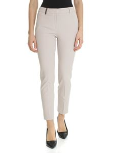 Peserico - Taupe trousers with logo