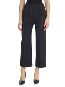 Peserico - Black checked trousers
