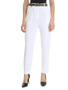 Peserico - White trousers with front pleats