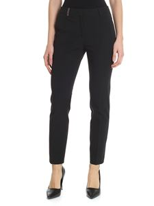 Peserico - Black trousers with logo