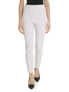 Peserico - Pearl grey stretch trousers