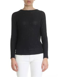 Peserico - Blue sweater with micro sequins embellishment