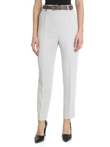 Peserico - Pearl grey trousers with tailored pleats