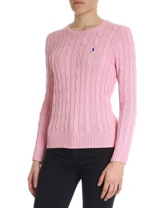 POLO Ralph Lauren - Pink sweater with logo embroidery