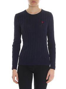 POLO Ralph Lauren - Blue sweater with logo embroidery