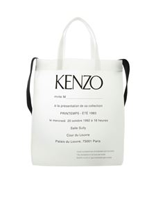 Kenzo - Kenzo Shopper Invitation bag in white pvc