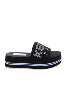 Kenzo - Papaya Platform black slippers