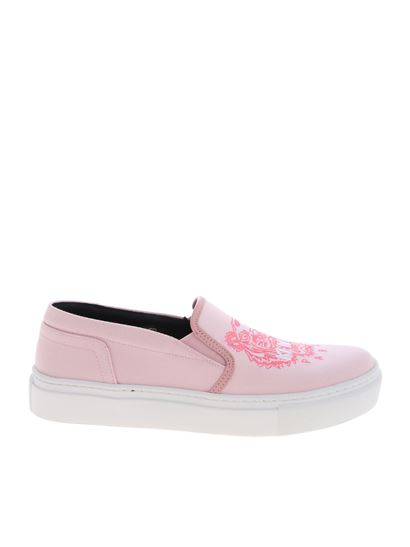 e40297a75f Kenzo Spring Summer 2019 k skate pink slip-on with logo embroidery ...