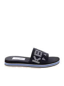 Kenzo - Papaya flat slides in black