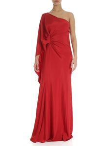 Alberta Ferretti - Red draped one shoulder dress
