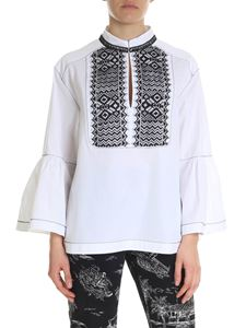 Alberta Ferretti - White blouse with lace detail