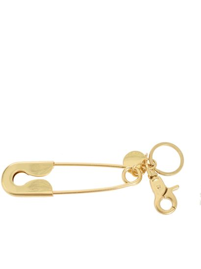 See by Chloé - Brooch key ring in golden metal