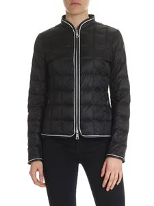 Fay - Black quilted jacket with Fay logo