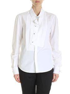Dsquared2 - White shirt with asymmetrical plastron