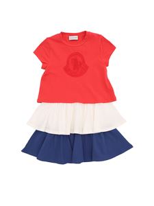 Moncler Jr - Dress with color block pleats
