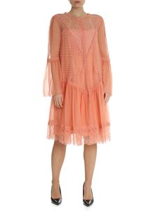 Alberta Ferretti - Coral transparent dress