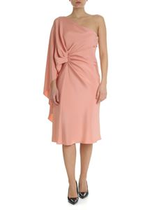 Alberta Ferretti - Pink draped one-shoulder dress